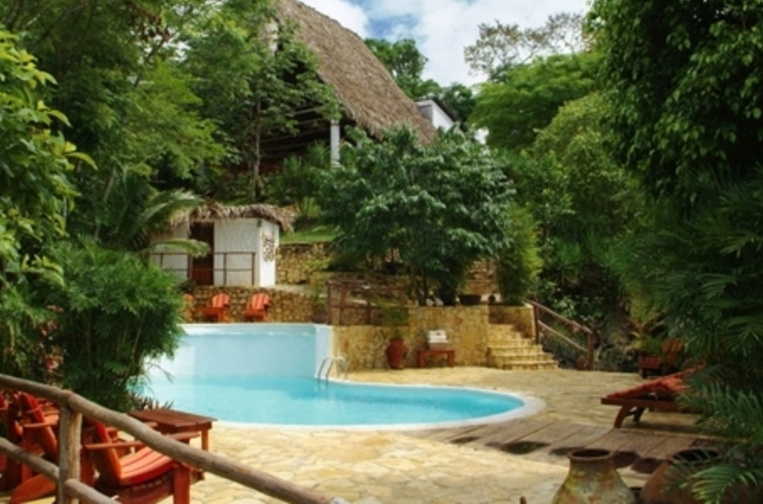 La Lancha Lodge, Lake Peten Itza, Guatemala, piscine