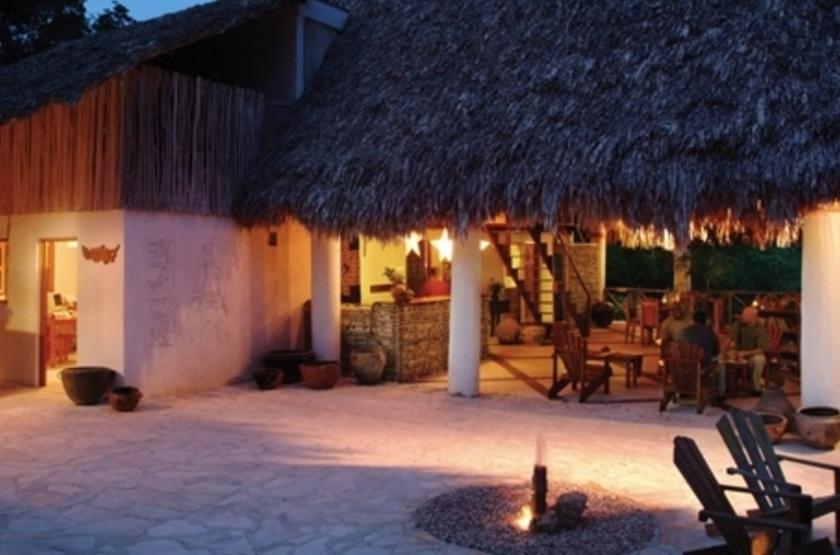 La Lancha Lodge, Lake Peten Itza, Guatemala, terrasse