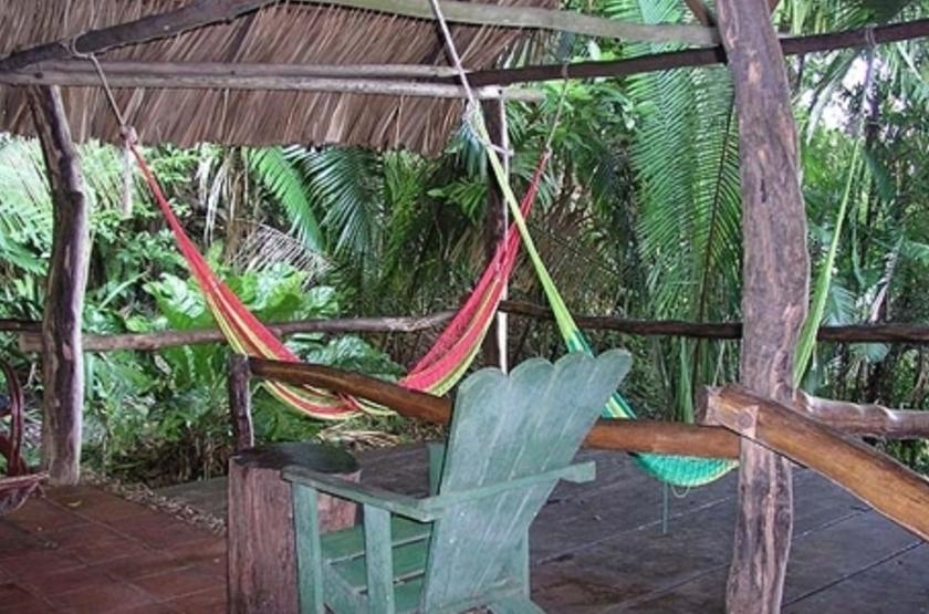 Chiminos Island Lodge, Petexbatun, Guatemala, terrasse