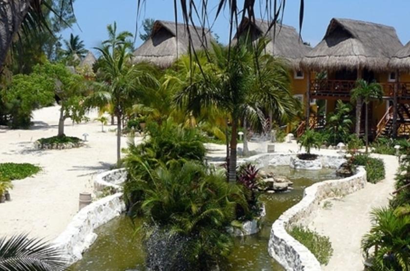 Shangri La Caribe Resort, Playa del Carmen, Mexique, jardins