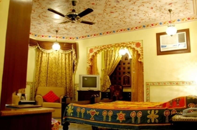 Taj Umaid Bhawan Palace, Jodhpur, Inde, chambre