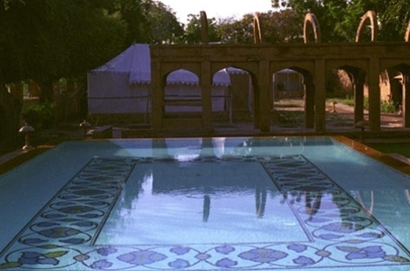 Mool Raj Sagar Camp, Jaisalmer, Inde, piscine