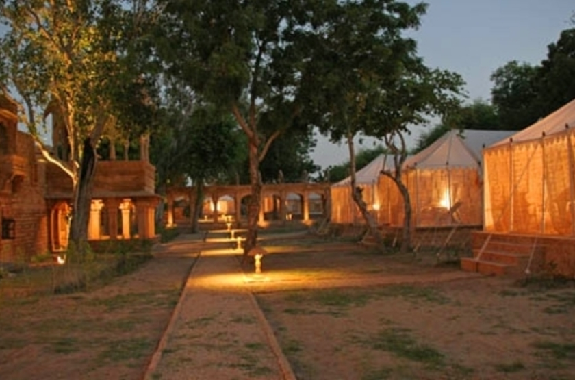 Mool Raj Sagar Camp, Jaisalmer, Inde, tentes