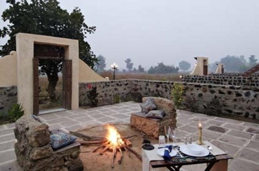 Camp Mewar, Parc de Bandhavargh, Inde, terrasse