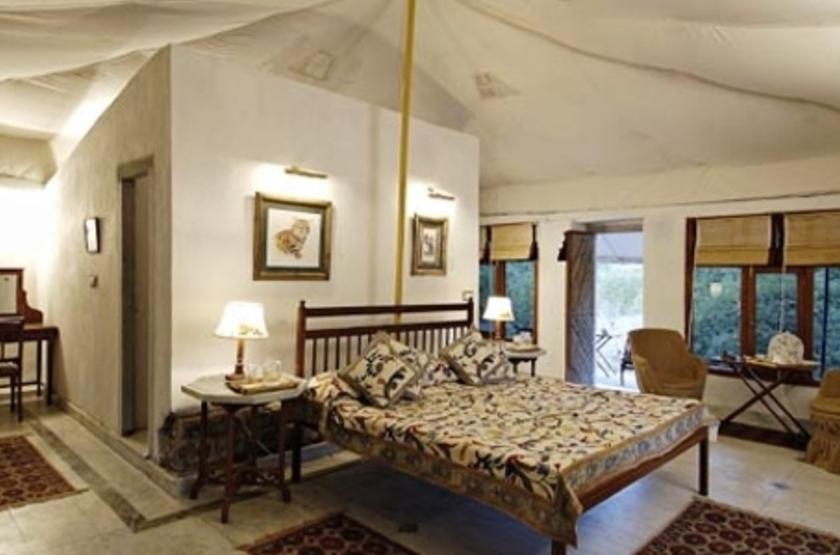 Camp Mewar, Parc de Bandhavargh, Inde, chambre