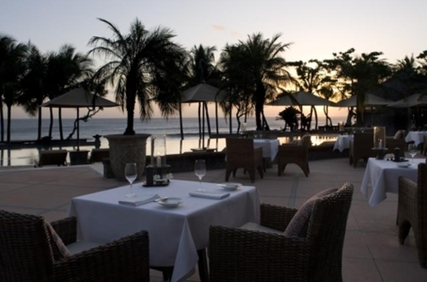 The Legian Seminyak, Bali, Indonésie, restaurant plage
