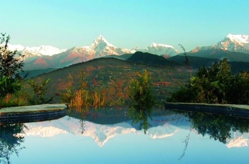 Tiger Mountain Pokhara Lodge, Népal, piscine