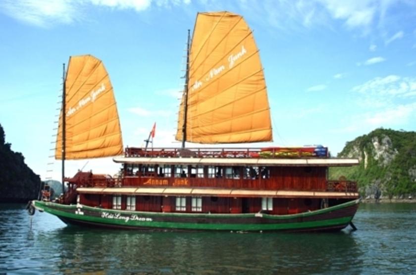 Jonque Hai Long, Baie d'Halong, Vietnam, jonque