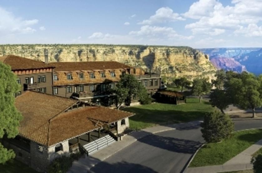 Hôtel El Tovar, Grand Canyon, Etats Unis, extérieur