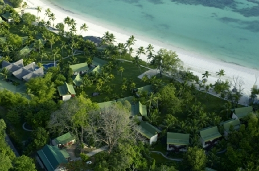 Paradise Sun, Praslin, Seychelles, vue aérienne