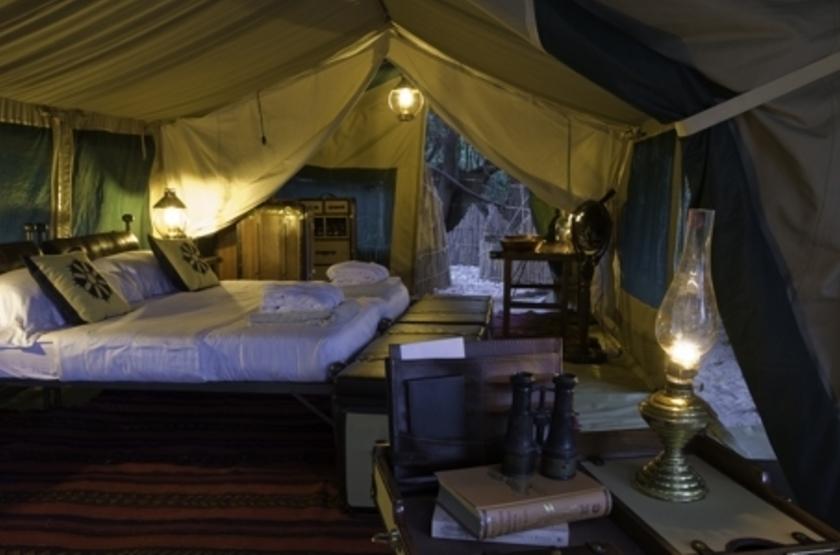 Lukula Selous Camp, Luwego River, Tanzanie, chambre