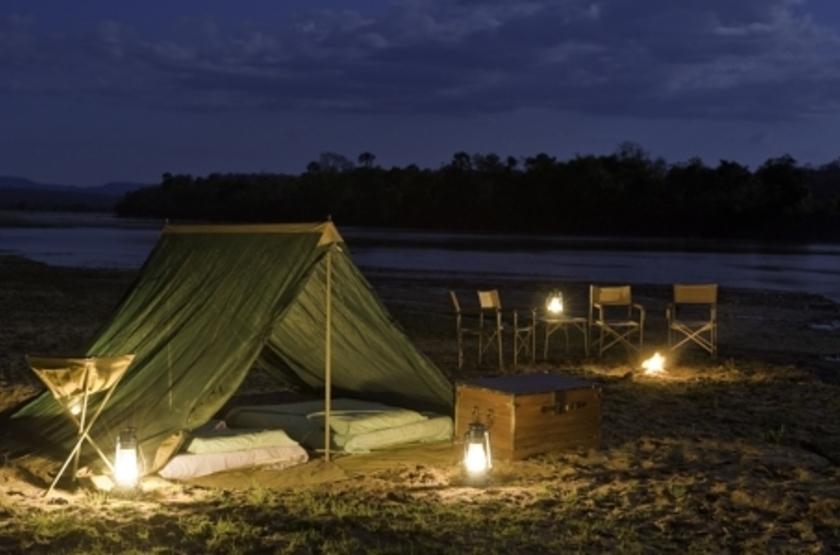 Lukula Selous Camp, Luwego River, Tanzanie, tente
