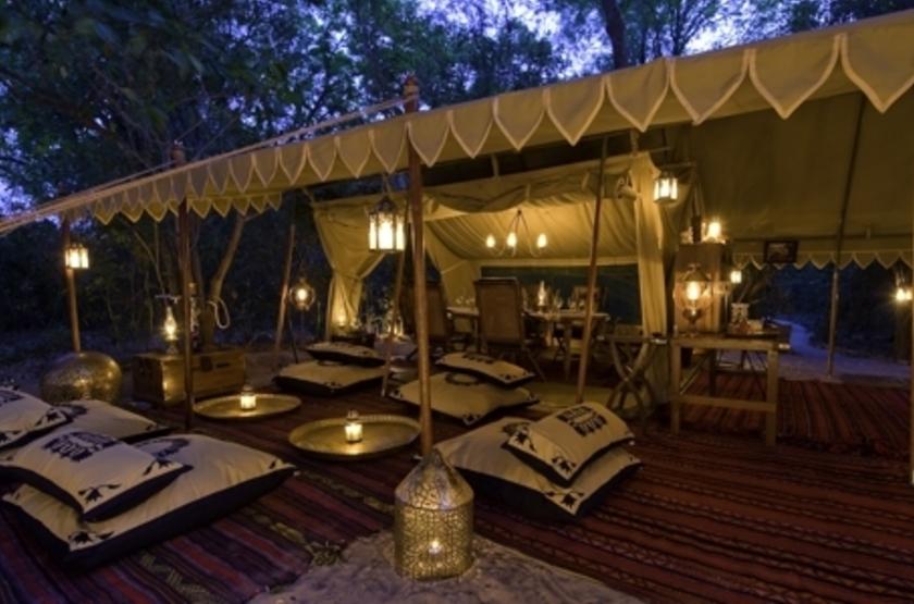 Lukula Selous Camp, Luwego River, Tanzanie, terrasse
