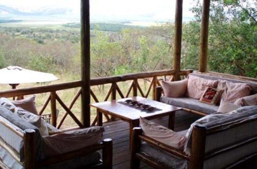 Mantana Tented Camp, lac Mburo, Ouganda, terrasse