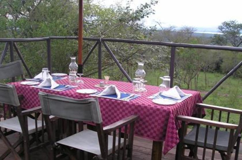Mantana Tented Camp, lac Mburo, Ouganda, restaurant