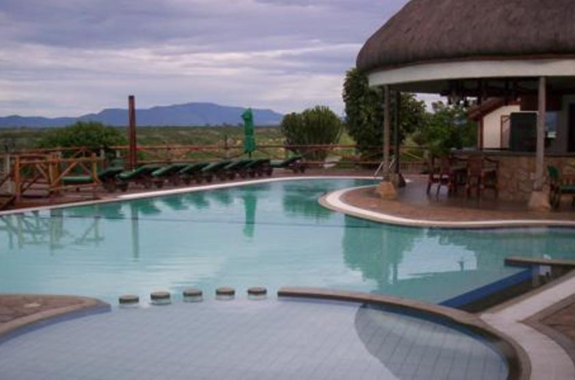 Mweya Lodge, Queen Elisabeth Park, Ouganda, piscine