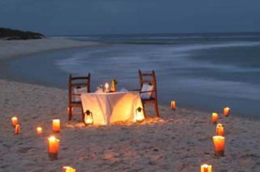 Ras Kutani Lodge, Tanzanie, dîner romantique