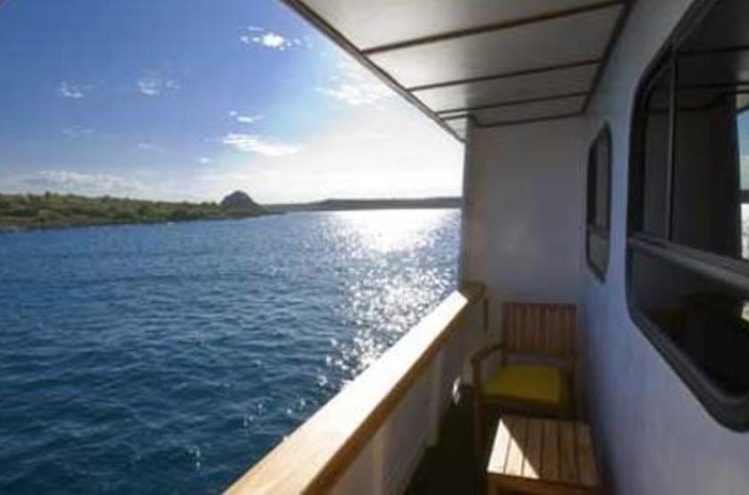 Catamaran Athala II, Galapagos, Equateur, terrasse