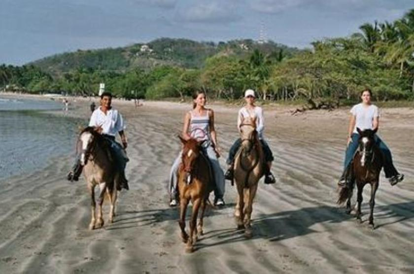 Capitan Suizo, Tamarindo, Costa Rica, balade à cheval