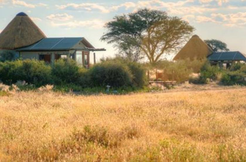Kalahari Red Dunes, près de Mariental, Namibie, chalet