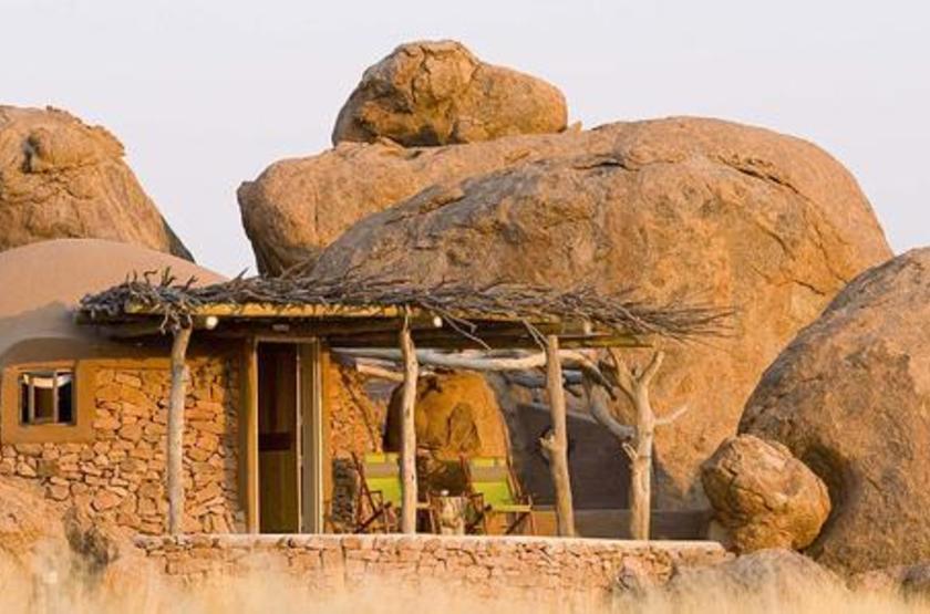 Camp Kipwe, Twyfelfontein, Namibie, terrasse
