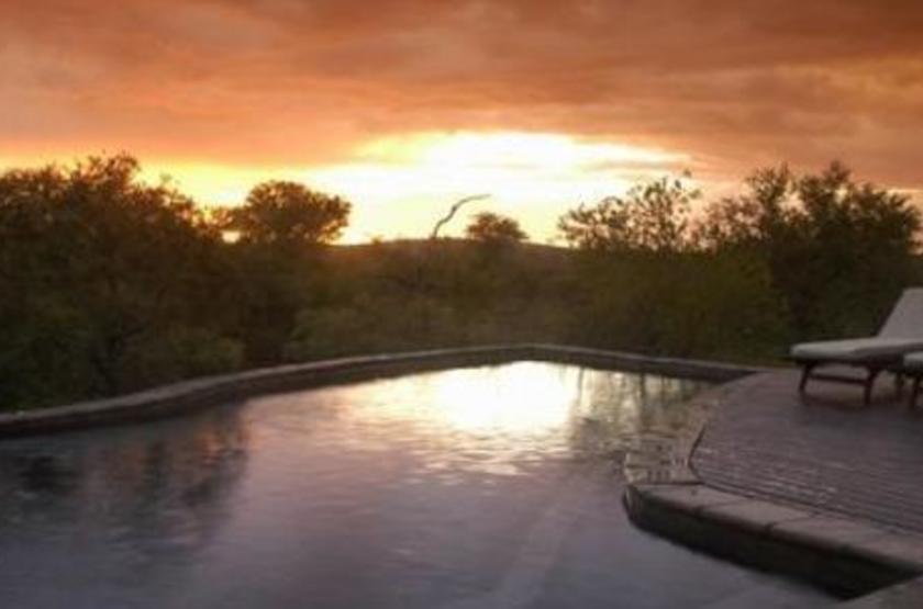 Thakadu River Camp, Réserve de Madikwe, Afrique du Sud, piscine
