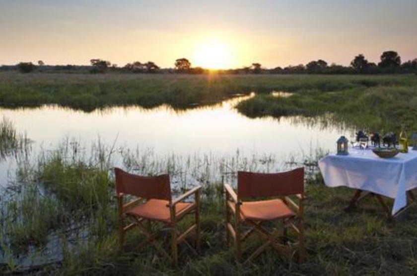 Susuwe Island lodge, Parc National Bwabwata, Namibie, dîner