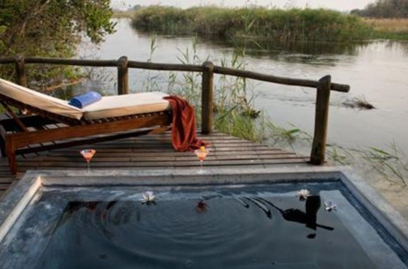Susuwe Island lodge, Parc National Bwabwata, Namibie, piscine