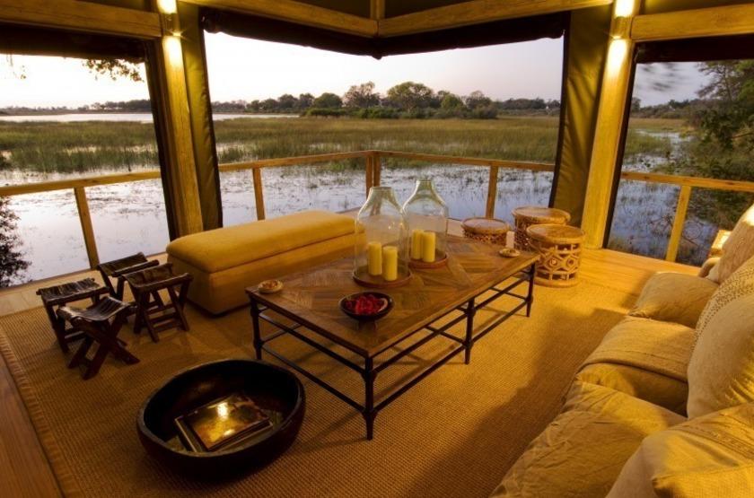 Abu Camp, Delta de l'Okavango, Botswana, salon