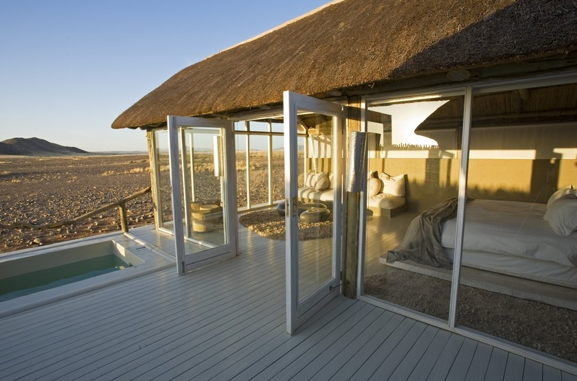 Little Kulala, Sossusvlei, Namibie, extérieur chalet