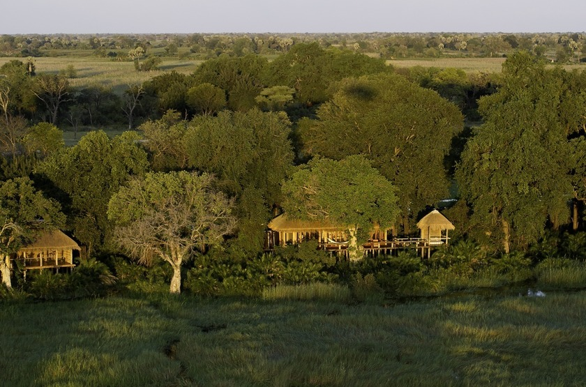 Jao Camp, concession de Jao, Botswana, emplacement