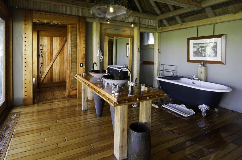 Jao Camp, concession de Jao, Botswana, salle de bains