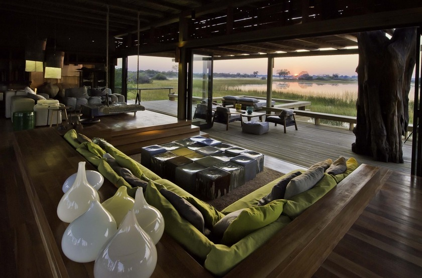 Botswana   vumbura plains   salon   bar slideshow