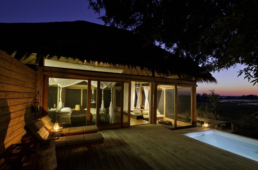 Botswana   vumbura plains   tente   terrasse slideshow