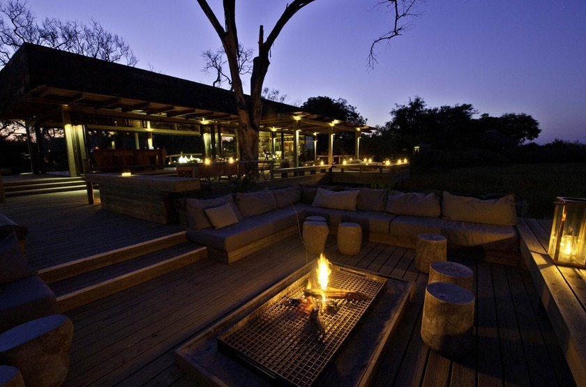 Botswana   vumbura plains   terrasse   bar slideshow