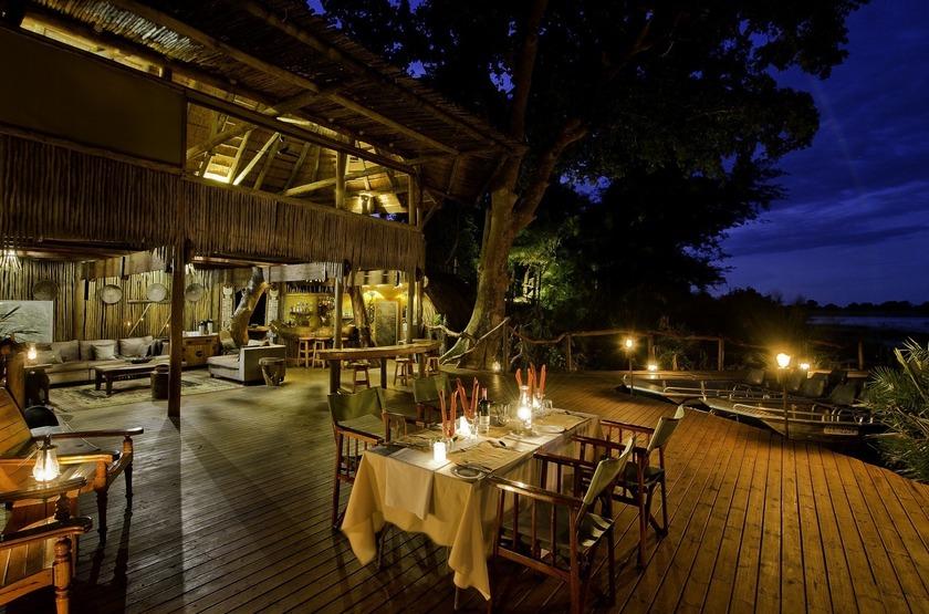 Botswana   jacana camp   dining room slideshow