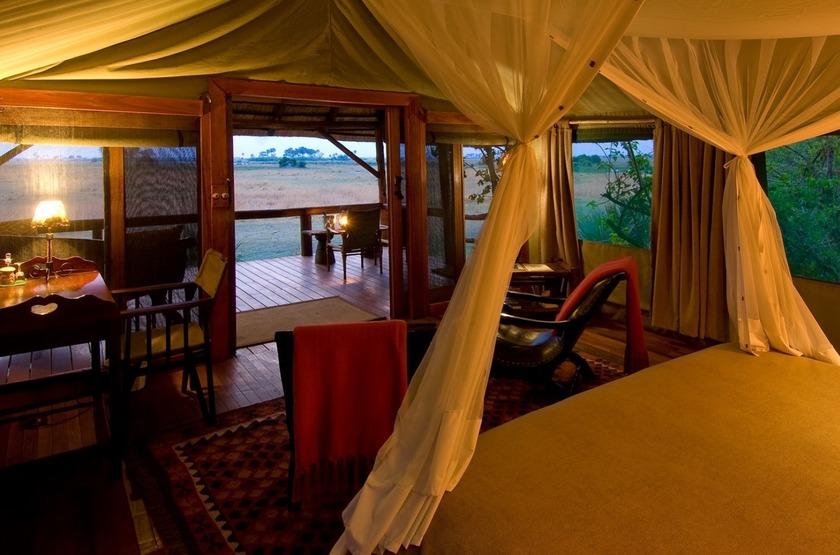 Selinda Camp, Linyanti, Botswana, intérieur tente