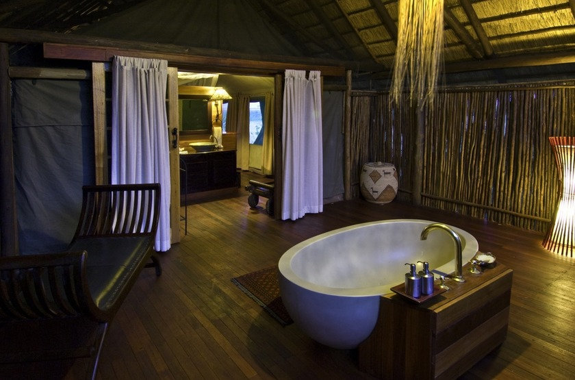 Botswana   selinda camp   salle de bain slideshow