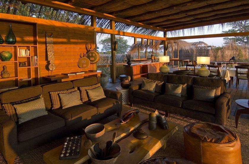 Shumba Camp, Parc de Kafue, Zambie, salon