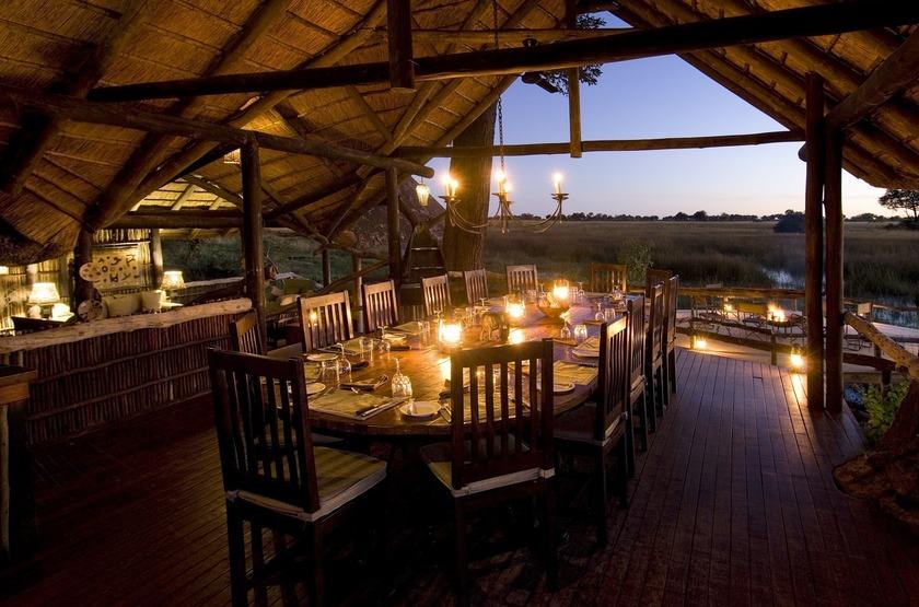 Duba Plains, réserve de la Moremi, Botswana, dinning room
