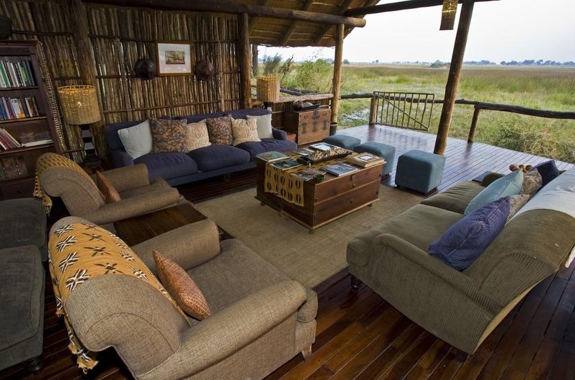 Duba Plains, réserve de la Moremi, Botswana, salon