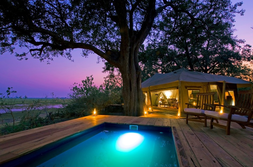 Botswana   zafara camp   piscine slideshow