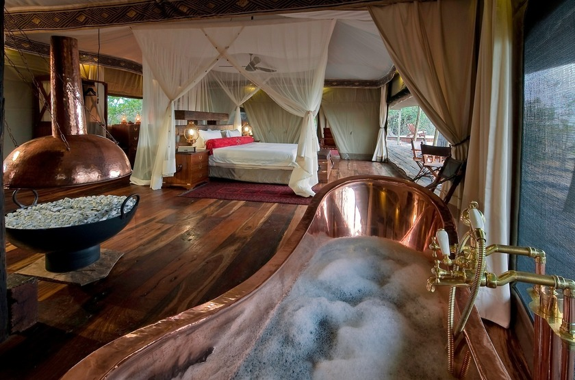 Botswana   zafara camp   tente   interieur slideshow