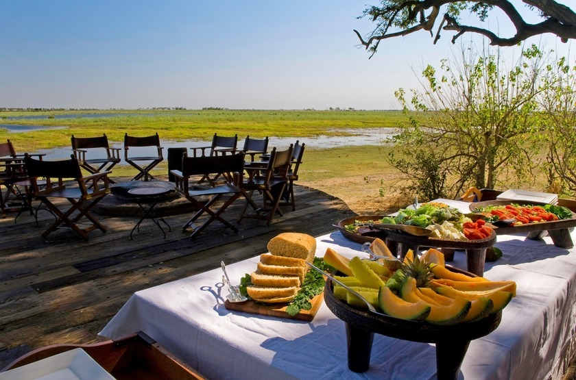 Zarafa Camp, Linyanti, Botswana, breakfast