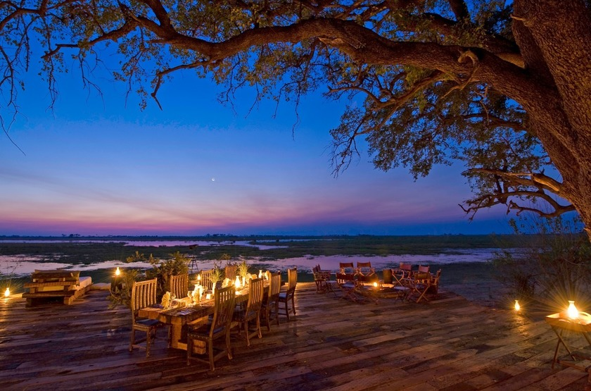 Zarafa Camp, Linyanti, Botswana, camp fire