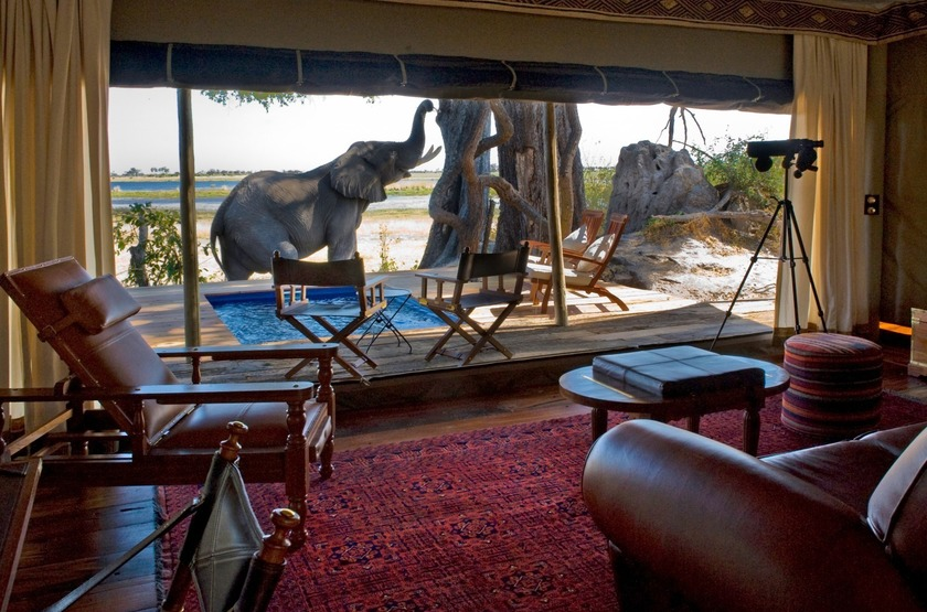 Botswana   zafara camp  lounge slideshow