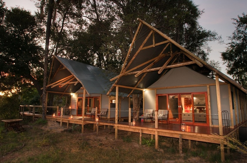 Chitabe Lediba Camp, delta de l'Okavango, tentes
