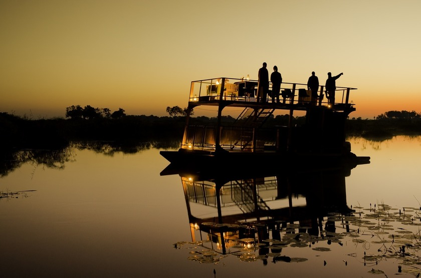 Kings Pool Camp, Linyanti, Botswana, safari en bateau