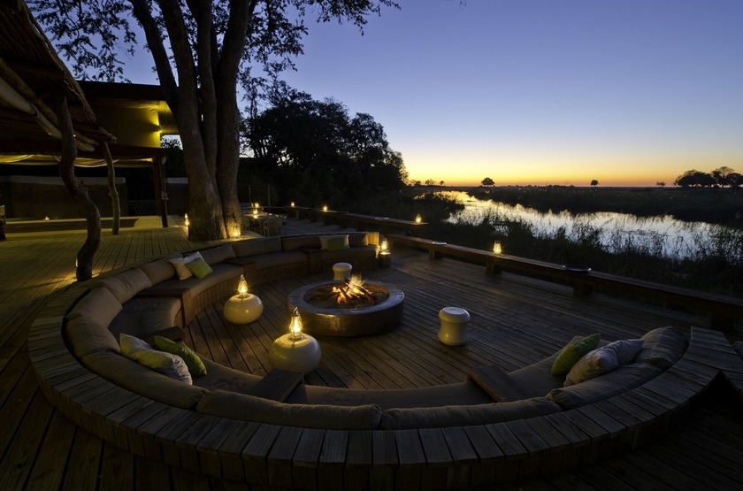 Kings Pool Camp, Linyanti, Botswana, camp fire