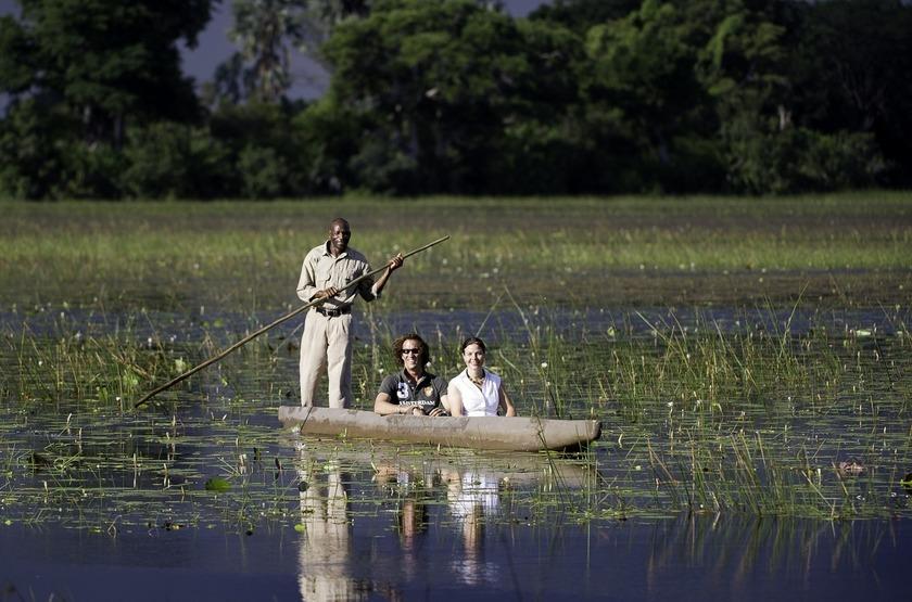 Kwetsani Camp, Okavango, Botswana, safari en mokoro
